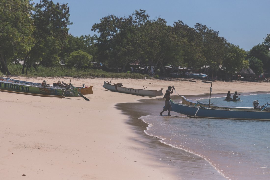 Plaże Lomboku - Pink Beach.